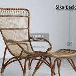 Sika Design Monet Chair and Footstool 839