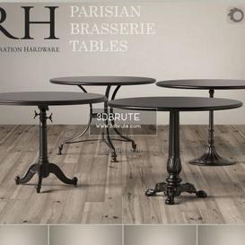 rh brasserie corona table