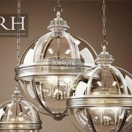 Rh Victorian Hotel Pendant 3 Size Ceiling Light 893