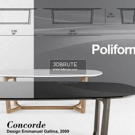 Poliforrm Concorde set2 table