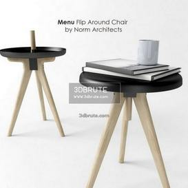 Menu Flip Around Chair by Norm Architects table