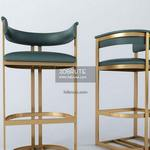Calvin bar chair in ANTIQUE BRASS-MODEL 318