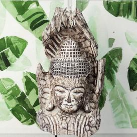 Albesia Wood Buddha Decoration