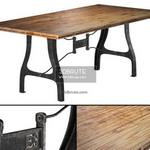 Nuevo V4 A Leg Small Dining   with Reclaimed Wood Top table 588