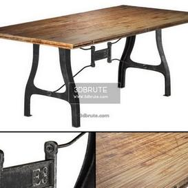 Nuevo V4 A Leg Small Dining   with Reclaimed Wood Top table