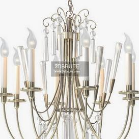 1stdibs Elegant Chandelier with Crystals by Lightolier Ceiling light