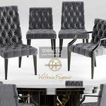 297. ViHoria Frigerio table and chair