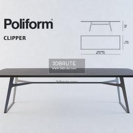 Poliform clipper table