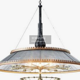 Grand 1800s Wheeler Mirrored Ceiling light