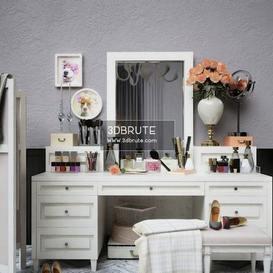 Decorative set dresser 3d model Download  Buy 3dbrute