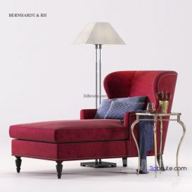 bernhardt Nadine Chaise corona sofa