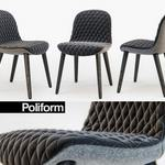 Poliform MAD Dining Chair Armchair 3dmodel 606