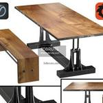 Post Industrial table 629