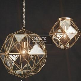 PB glass metal Ceiling light