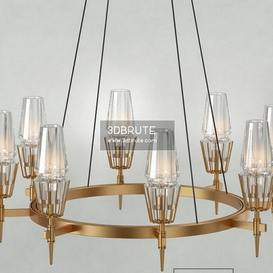 Jonathan Browning Chaillot Chandelier Ceiling light