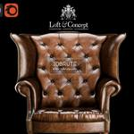 CHESTERFIELD HIGH BACK WING CHAIR Armchair 3dmodel 698