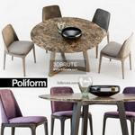 443. Poliform Table and chair