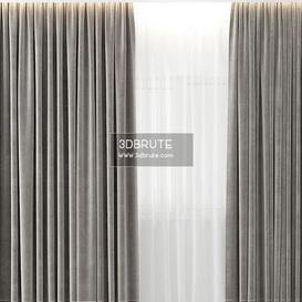 CURTAIN VELVET 3d model Download  Buy 3dbrute