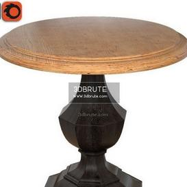 Wood Round Accent   corona table