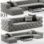 RH restorationhardware  soho tufted Sofa 3dmodel