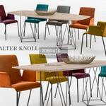 491. Walter Knoll Table and chair