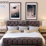 Burton eloise tufted sleigh bed vray and corona  512