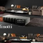 Minotti freeman ailor lounge Sofa 3dmodel