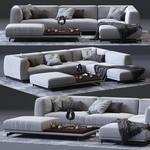 Germain Corner Sofa 3dmodel