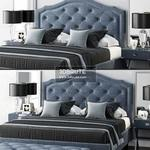 LuXeo Brentwood Queen Tufted Bed  528