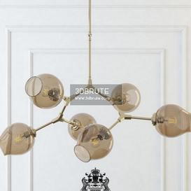 branching bubble chandelier 6 smoke Ceiling light