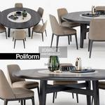 Poliform Sophie  Home Hotel Table & chair 538