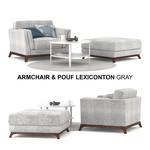 Armchair & Pouf Lexiconton GRAY sofa 622