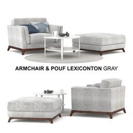 Armchair & Pouf Lexiconton GRAY sofa