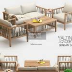 garden  set sofa 639