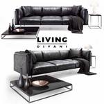 Divanci  Living divani leather rod sofa 650