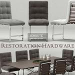 RH Modern Rossi Spyder Table & chair 566