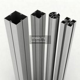 aluminum bars 3dmodel