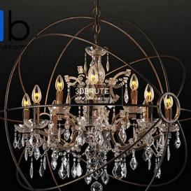 IRON ORB CHANDELIER CH014 12 LRR Ceiling light