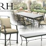 RH Antibes Dining Table & chair 253