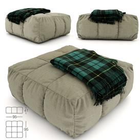 pouf and plaid 2009 sofa