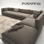 flexform pleasure 3 sofa 62