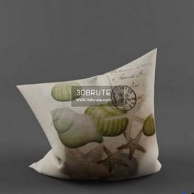 Bright Home Sea Style Linen Pillow