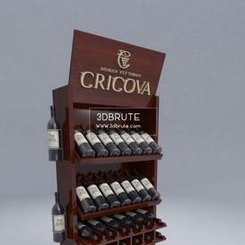 Wine display cabinet shop 3dmodel