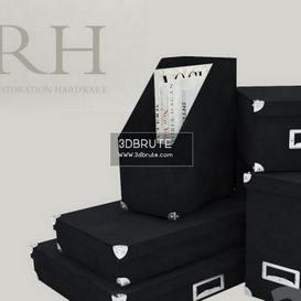 Linen Office Storage Accessories Black