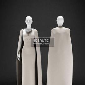 Mannequin Evening dress 3dmodel