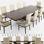 Century DINING  DARK WOOD Table & chair 270