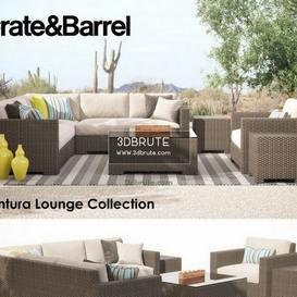 Crate & Barrel Ventura Collection Set I sofa