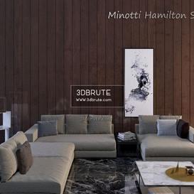 Minotti Hamilton sets sofa