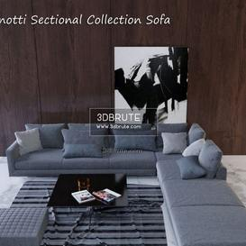 Minotti Sectional Collection sofa