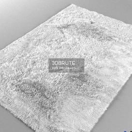 White fluffy rug 2013
